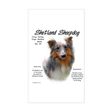 Shetland Sheepdog Rectangle Sticker