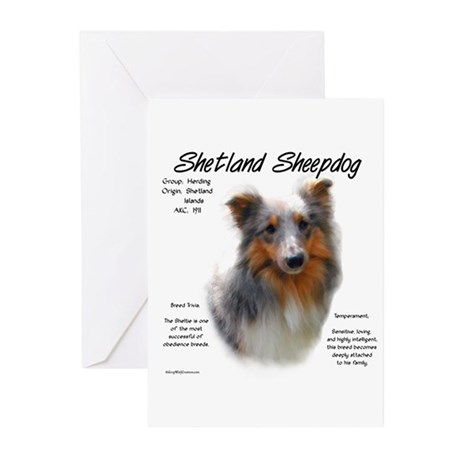 Shetland Sheepdog Greeting Cards (Pk of 10)
