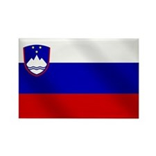 Flag of Slovenia Rectangle Magnet