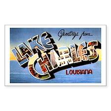 Lake Charles Louisiana Greetings Decal