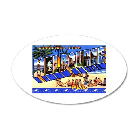 Melbourne Florida Greetings 35x21 Oval Wall Decal