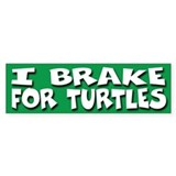 I Brake For Turtles Bumper Décalcomanies auto