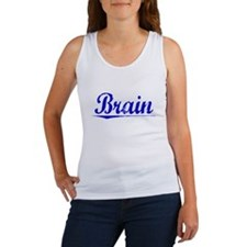 Brain, Blue, Aged Women's Tank Top