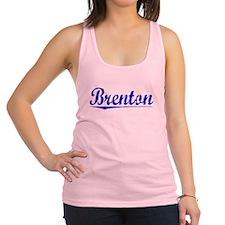 Brenton, Blue, Aged Racerback Tank Top