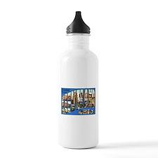 Cleveland Ohio Greetings Water Bottle