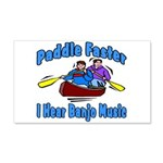 Paddle Faster Canoe 20x12 Wall Decal