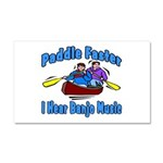 Paddle Faster Canoe Car Magnet 20 x 12