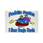 Paddle Faster Canoe Rectangle Magnet