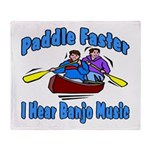 Paddle Faster Canoe Throw Blanket