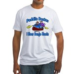 Paddle Faster Canoe Fitted T-Shirt