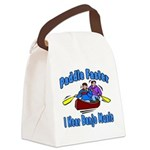 Paddle Faster Canoe Canvas Lunch Bag