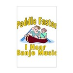 Paddle Faster I hear Banjos Mini Poster Print