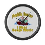 Paddle Faster I hear Banjos Large Wall Clock