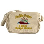 Paddle Faster I hear Banjos Messenger Bag