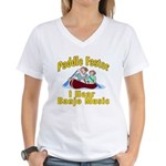 Paddle Faster I hear Banjos Women's V-Neck T-Shirt
