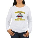 Paddle Faster I hear Banjos Women's Long Sleeve T-