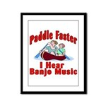 Paddle Faster Framed Panel Print