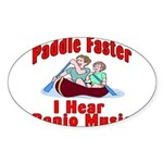 Paddle Faster Sticker (Oval 50 pk)