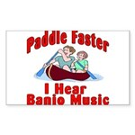 Paddle Faster Sticker (Rectangle)