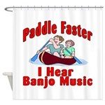 Paddle Faster Shower Curtain