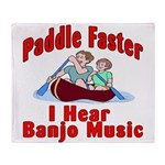 Paddle Faster Throw Blanket