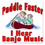 Paddle Faster Square Car Magnet 3