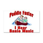 Paddle Faster Rectangle Car Magnet