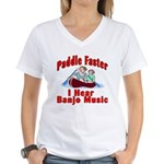 Paddle Faster Women's V-Neck T-Shirt