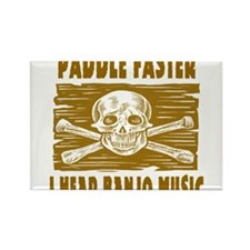 Paddle Faster Hear Banjos Rectangle Magnet (100 pa
