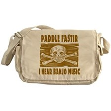 Paddle Faster Hear Banjos Messenger Bag