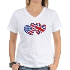 Patriotic Peace Sign and USA Flag Shirt