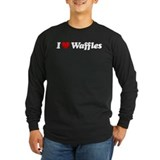 Waffles-dark Long Sleeve T-Shirt