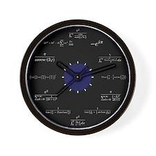Math Wall Clock (black)