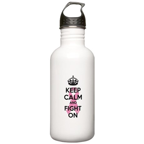 Keep calm and fight on Stainless Water Bottle 1.0L