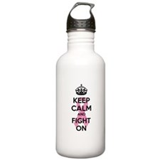 Keep calm and fight on Water Bottle