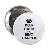 "Keep calm and beat cancer 2.25"" Button"