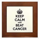 Keep calm and beat cancer Framed Tile