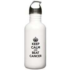 Keep calm and beat cancer Water Bottle