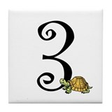 #Three (3) Turtle Number Tile