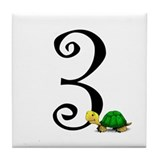 #Three (3) Turtle Tile Number