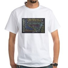 Chalkboard Wordle White T-Shirt