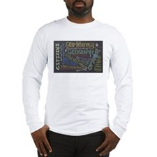 Chalkboard Wordle Long Sleeve T-Shirt