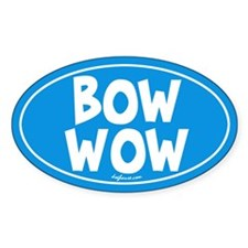 Bow Wow Oval Decal
