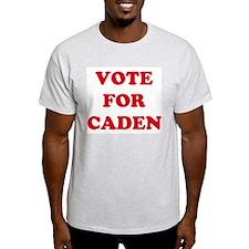 VOTE FOR CADEN  Ash Grey T-Shirt