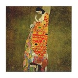 Hope by Gustav Klimt Tile Coaster