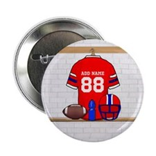 "Personalized Football Grid iron jersey 2.25"" Butto"