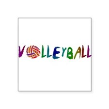 "VOLLEYBALL3.jpg Square Sticker 3"" x 3"""
