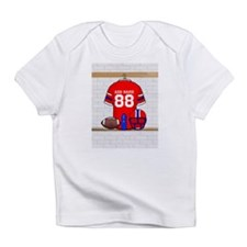 Personalized grid Iron Football jersey Infant T-Sh
