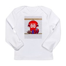 Personalized grid Iron Football jersey Long Sleeve
