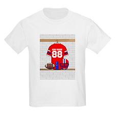 Personalized grid Iron Football jersey T-Shirt